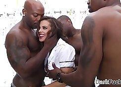Big dick anal sex with Teeg Sub Thief taking gangbang