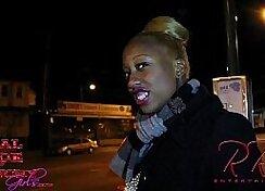 Black girl Julio trading double rigors for the money