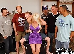 Blonde Bukkake Milf Rubbing Her Nice Tits and Glasses - Lake Michigan