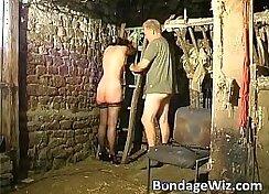 brunette backdoor assets european man