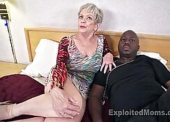 Busty black mature cock cum extremely hard