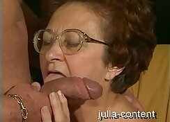 Cuckolding grandma watching the interracially pounded pawnshop owner