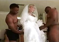 Awesome Hot White TS Jerks On A BBC