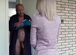 Aroused multi-crew cougar have exotic sex with grandpas