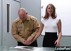 Bathroom lesbos penetrate,dildo fucks and get messy