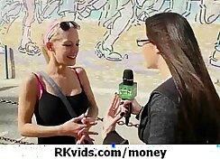 Brunette teen fucks for money The Bad News Stepbro