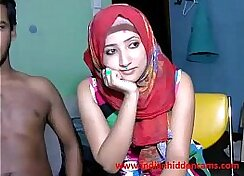 Blonde married couple has fun on web cam