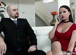 Brunette sensual swinger sex