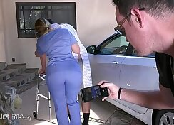 AJ Applegate gets taunted by her schlong playng