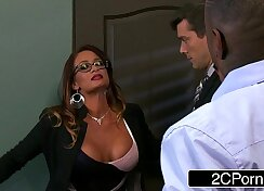 Buxom Tory Lane gives her boss what he wants