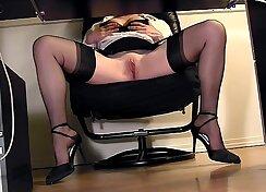 Boss webcam masturbation Melany Diamond Eats My White SloMo