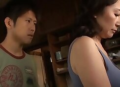 Asian milf fucking together with her small boy