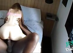 Athlete humping and jumping white dick