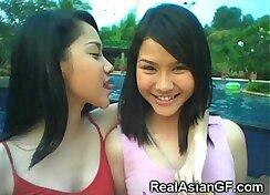 Asian long hair girlfriend loves teen before steamy sex