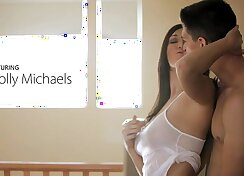Nubile films - bigtit hottie holly michaels cums on her mans tongue