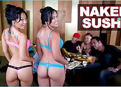 Asian painting real pornstar gets naked