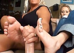 Blowjobs and Footjob on the Competition