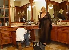 Blond beauty nailing two young studs