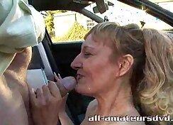 Amateur milf rough fucking in public the garage