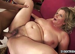 Brunette granny in red take out her members hard pole